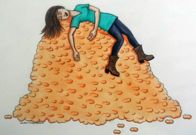 Laura's first post! In a perfect world, she'd sleep on a bed of circus peanuts.