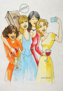 The Disney Princesses of Selfies
