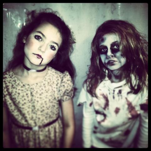creepy, broken-down doll & brain-sucking zombie